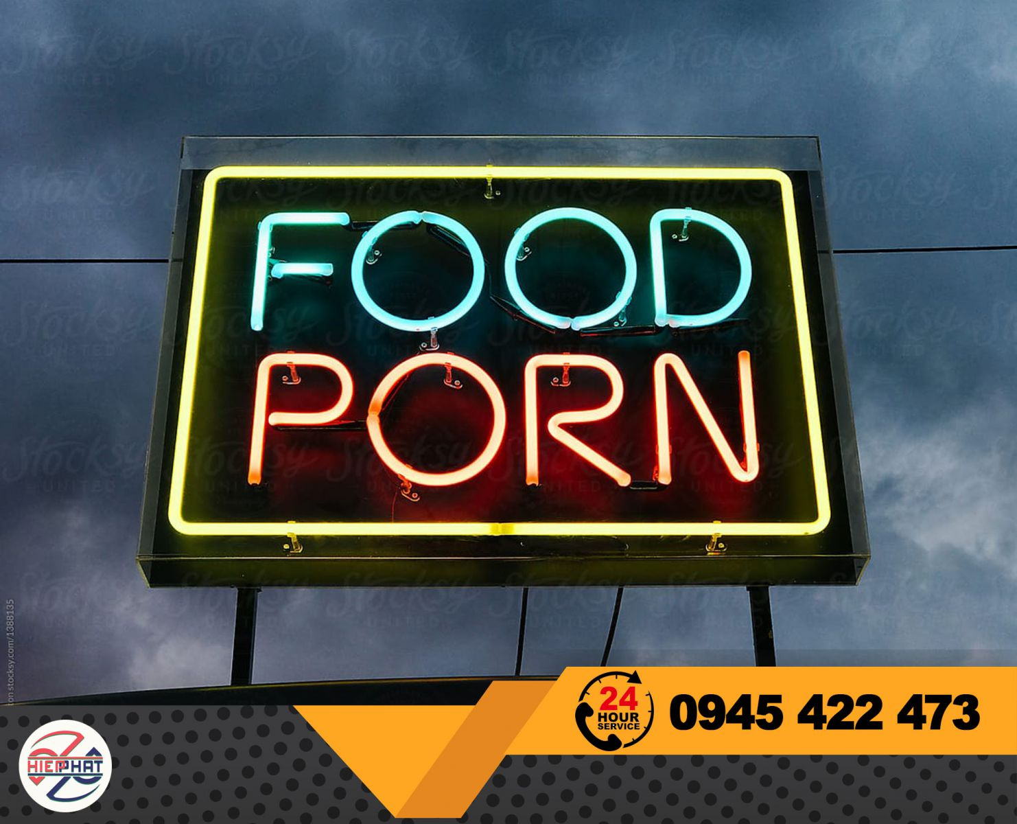 bảng hiệu quán ăn